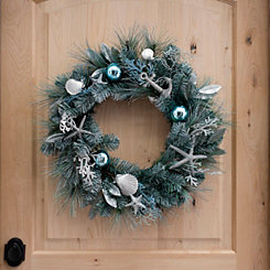 Seashells and Pine Coastal Wreath