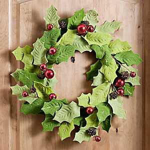 Felt Holly and Berries Wreath