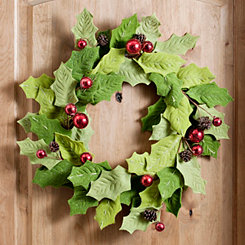 Felt Holly and Berries Wreath