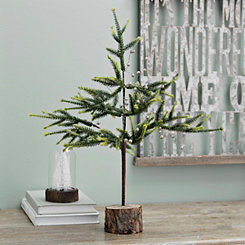 Small Pine Tree with Gold Ornaments