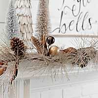Metallic Pine and Feathers Garland