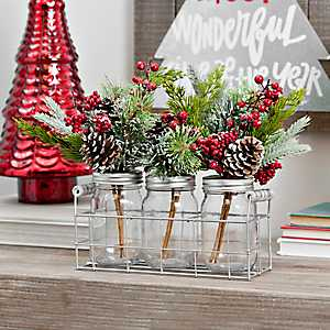 Pine Jars and Basket Arrangement
