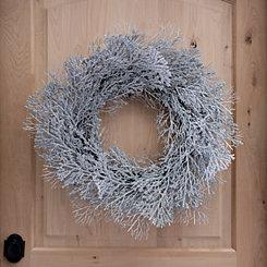 Silver Glitter Coral Wreath