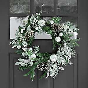 Metallic Silver Mix Wreath