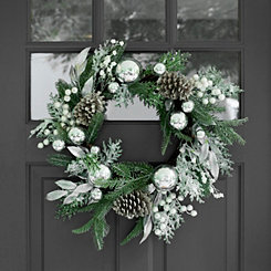 Metallic Silver Mix Wreath
