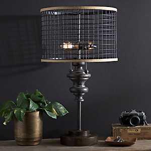 Fitzpatrick Metal Double Edison Bulb Table Lamp