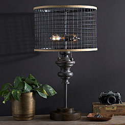 Fitzpatrick Metal Double Edison Bulb Table Lamp