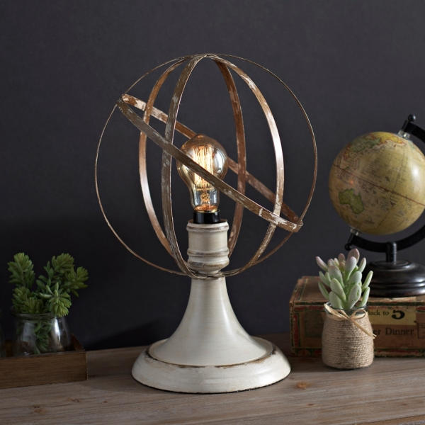 ... Mackinaw Sphere Edison Bulb Table Lamp ...