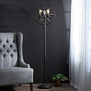 Global Sphere Triple Edison Floor Lamp