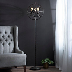 Global Sphere Triple Edison Floor Lamp