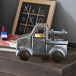 Galvanized Metal Truck Tabletop Night Light