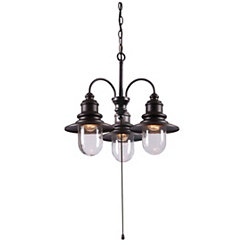 Broadcast Metal Outdoor Chandelier