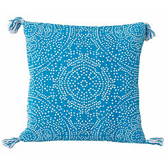Blue Kerra Dot Medallion Reversible Pillow