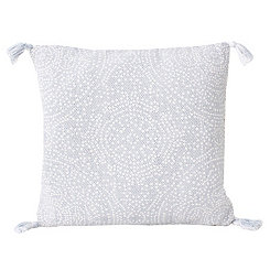 White Kerra Dot Medallion Reversible Pillow