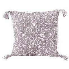 Gray Kerra Dot Medallion Reversible Pillow
