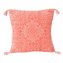 Coral Kerra Dot Medallion Reversible Pillow