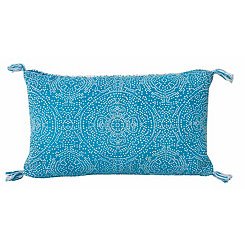 Blue Kerra Dot Medallion Reversible Accent Pillow