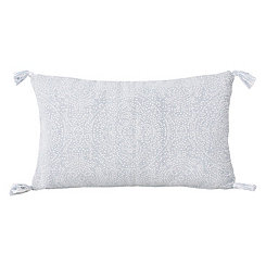 White Kerra Dot Medallion Reversible Accent Pillow