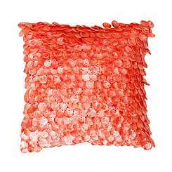 Coral Capiz Shell Pillow