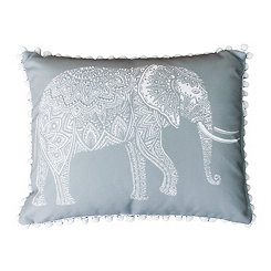 Gray Emmett Elephant Reversible Accent Pillow