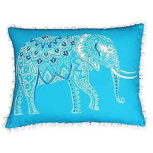 Blue Emmett Elephant Reversible Accent Pillow
