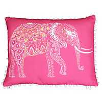 Pink Emmett Elephant Reversible Accent Pillow