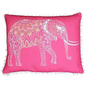Pink Emmett Elephant Reversible Accent Pillow