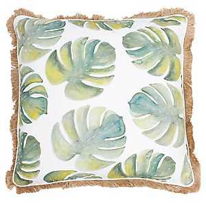 Frances Watercolor Palm Leaf Pillow