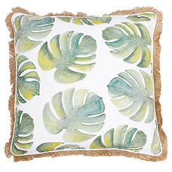 Frances Watercolor Palm Leaf Pillow