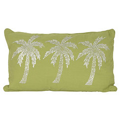Green Patty Palm Tree Accent Pillow