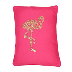 Pink Phyllis Flamingo Pillow