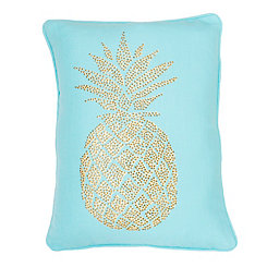 Blue Polly Pineapple Pillow