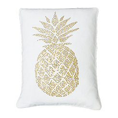 White Polly Pineapple Pillow