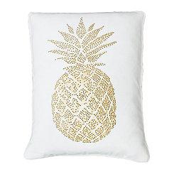 White Polly Pineapple Pillow
