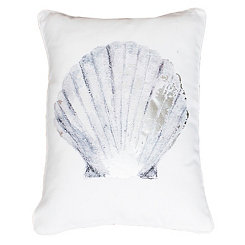 Silver Shona Seashell Pillow