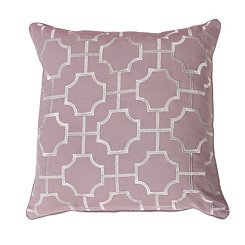 Purple Tonianne Geometric Embroidered Pillow