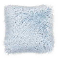 Light Blue Keller Faux Fur Pillow