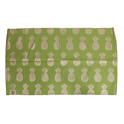 Green Perry Gold Pineapple Accent Rug