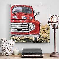 Vintage Truck Canvas Art Print