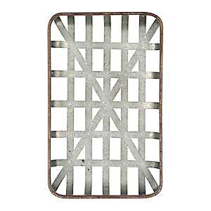 Galvanized Metal Tobacco Basket