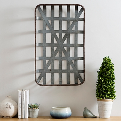 Galvanized Metal Tobacco Basket