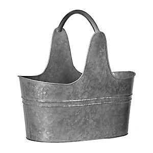 Galvanized Metal Bucket with Handle, 10 in.