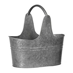Galvanized Metal Bucket with Handle, 10 in.