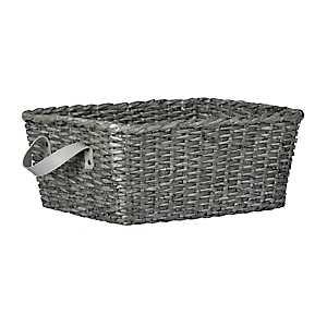 Woven Gray Basket