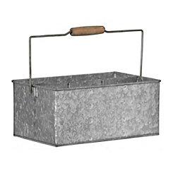 Galvanized Metal Desk Caddy