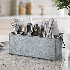 Galvanized Metal Desk Caddy