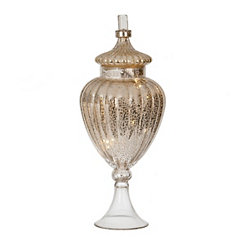 Pre-Lit Mercury Glass Apothecary Jar, 18 in.