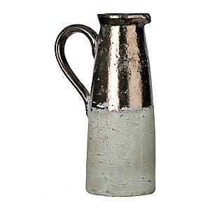 Metallic Terra Cotta Pitcher Vase