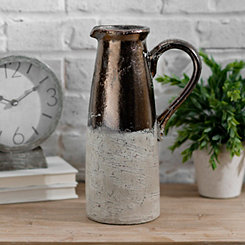 Metallic Terra Cotta Pitcher Vase