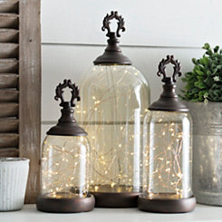Pre-Lit Finial Cloches, Set of 3
